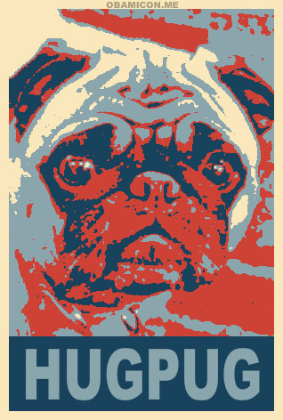 Hug Pugs support President Obama