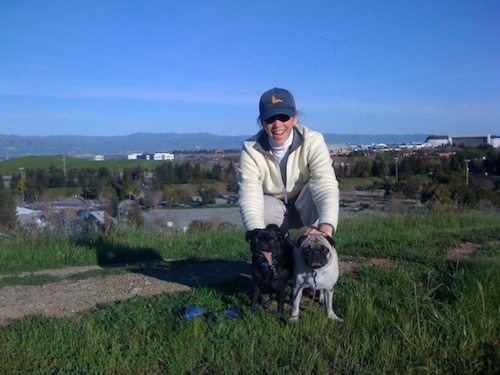 Rio and Sheba Climb Mountain View's Vista Slope