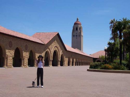 Sheba and Stacy in the Stanford Quad
