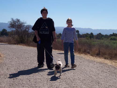 Adam, Julia and Sheba SF Bay walk