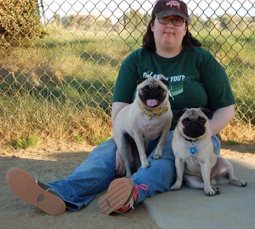 Roy, Roy's Peep and Sheba posing