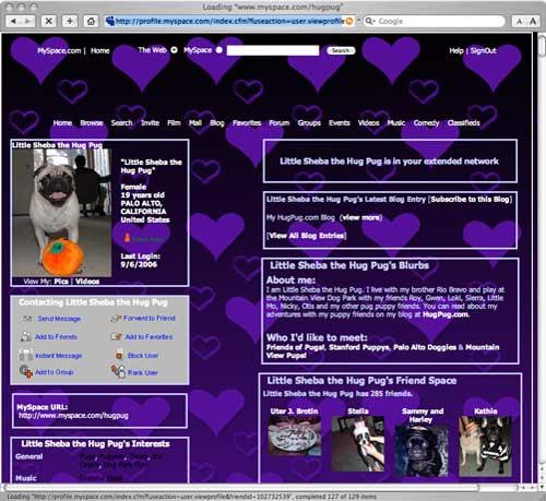HugPug MySpace